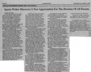 Parents are heroes newspaper article